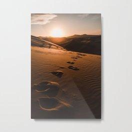 Sunrise at Morocco desert Metal Print