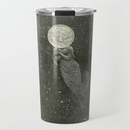 Antique Moon Woman Travel Mug