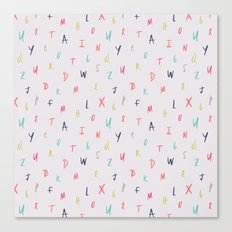 Bright Letters Canvas Print