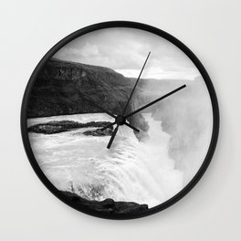 Gullfoss II Wall Clock