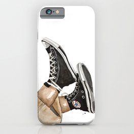 Sneakers shoe watercolor fashion illustration iPhone Case