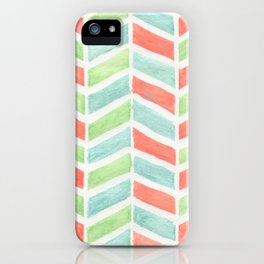 Pastel fishbone iPhone Case