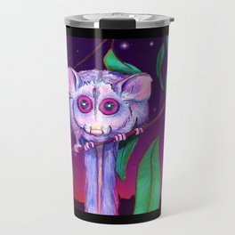 Night Possum Under Starry Sky Travel Mug