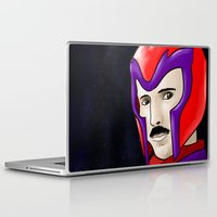 magneto Laptop & iPad Skins featuring Magneto Tesla by Aghko