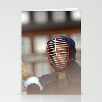 samurai Stationery Cards featuring Samurai by Premium