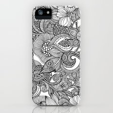 Flowers and doodles iPhone SE Slim Case
