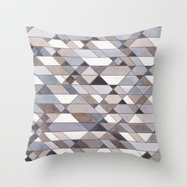 Triangle Pattern no.22 grays Throw Pillow
