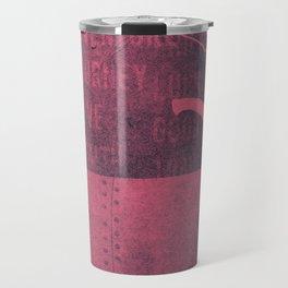 Tea and Tasseomancy (Ruby Velvet and Metal) Travel Mug