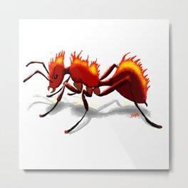 Fire Ant Metal Print