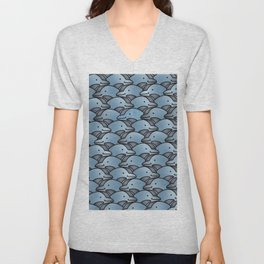 Dolphins-sparkle from within Unisex V-Neck
