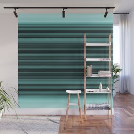elegant stripes in teal and mint Wall Mural