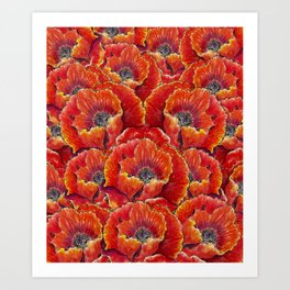Big red poppies Art Print