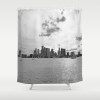 boston Shower Curtains featuring Boston by NaturallyJess