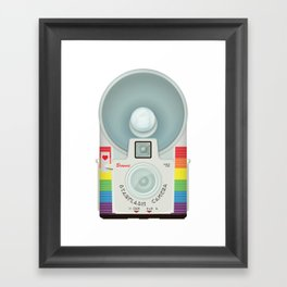 VINTAGE CAMERA RAINBOW Framed Art Print