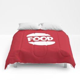 FOOD logo fun generic food logo Comforters