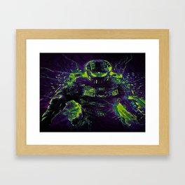 Future Halo Framed Art Print