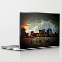 new orleans Laptop & iPad Skins featuring New Orleans by Kelly King
