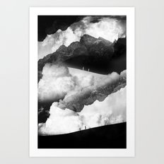 State of black and white isolation Art Print