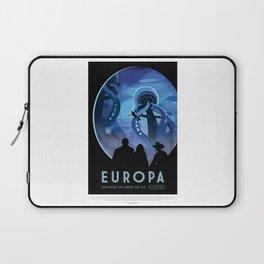 Europa - NASA Space Travel Poster Laptop Sleeve