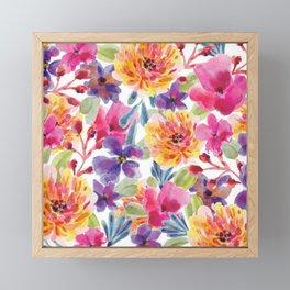 Floral Watecolor Bouquet Framed Mini Art Print