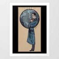 sherlock holmes Art Prints featuring Sherlock Holmes by Fyodor Pavlov