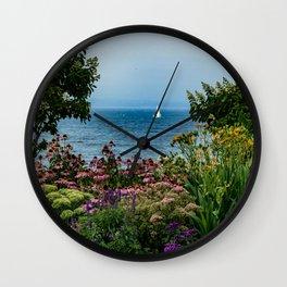 Sailing in the Garden Wall Clock