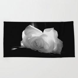 Black & White Rose Beach Towel