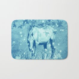 Horse and faerie lights Bath Mat