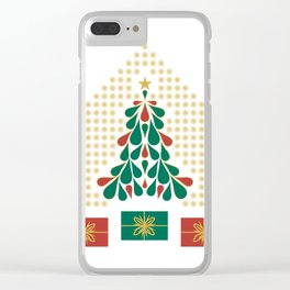 christmas tree present house star Clear iPhone Case