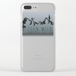100% Wild Line Clear iPhone Case