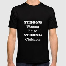 Strong Women. MEDIUM Black Mens Fitted Tee