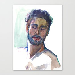 DENNIS, Semi-Nude Male by Frank-Joseph Canvas Print