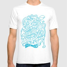 Freak Show SMALL White Mens Fitted Tee