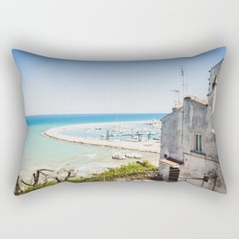 Porto turistico di Rodi Garganico Rectangular Pillow