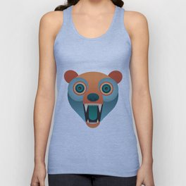 Geometric Bear Unisex Tank Top