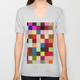 checkered times Unisex V-Neck