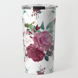 Floral Pattern with Arrows Travel Mug