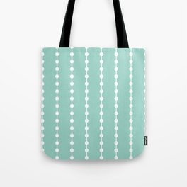 Geometric Droplets Pattern Linked - Pastel Green and White Tote Bag