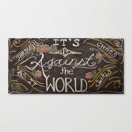 us against the world chalk Canvas Print
