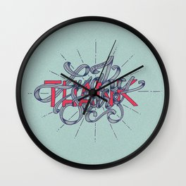 Thank Your Lucky Stars Wall Clock