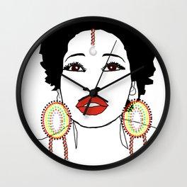 Maasai Earrings Wall Clock