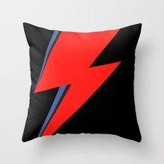 David Bowie Lightning bolt Throw Pillow