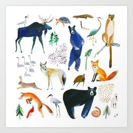 Canadian Native Animal Print Art Print
