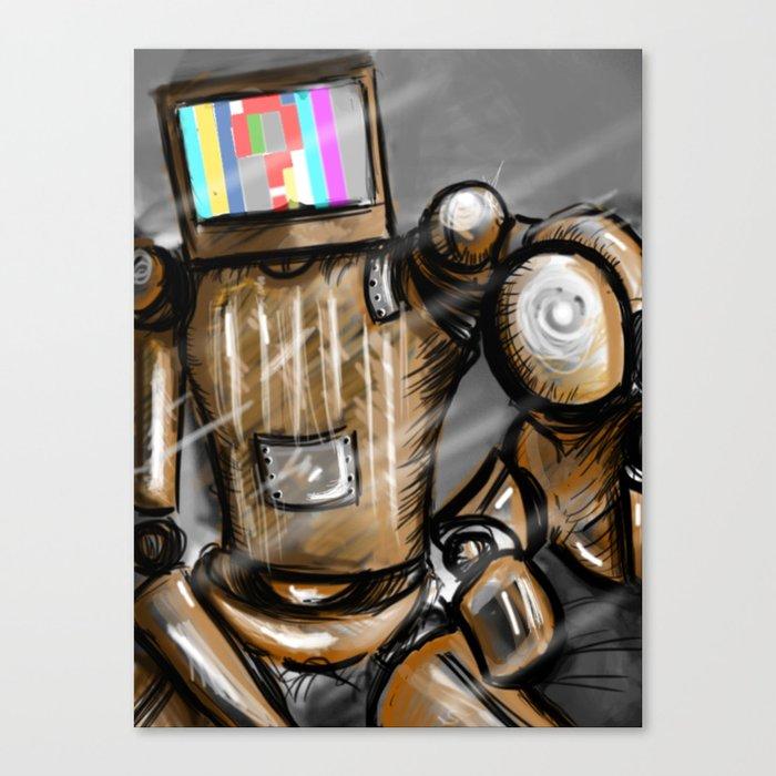 CONFUSED ROBO Canvas Print