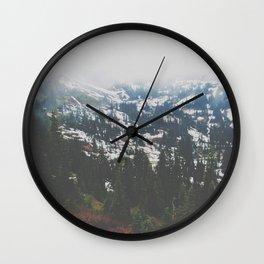 Mount Rainier in July Wall Clock