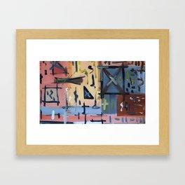 Colourful Chaos Framed Art Print