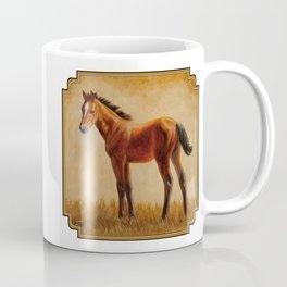 Bay Quarter Horse Foal Coffee Mug