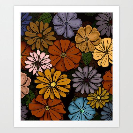 Abstract #418 Flower Power #6 Art Print