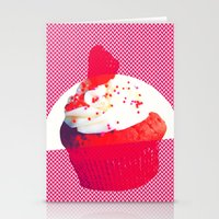 cupcake Stationery Cards featuring Cupcake by Mr and Mrs Quirynen