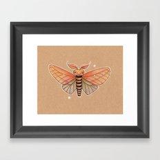 Un-Natural Selection: Carmine Stripee Halloween Moth Framed Art Print